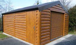 Каркасный гараж из дерева своими руками